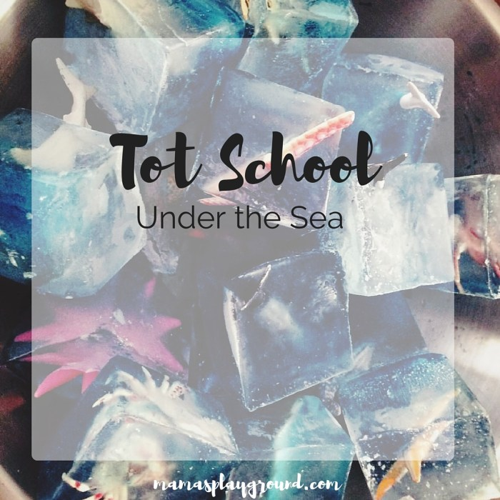 A playful ocean tot school from Mama's Playground.