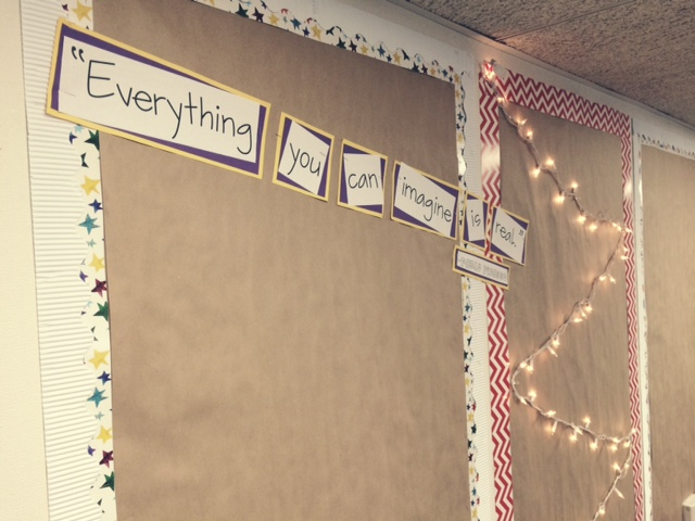 Craft paper bulletin boards