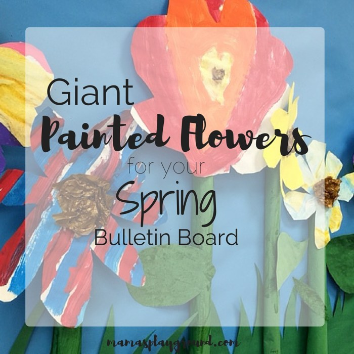 Giant Painted Flowers