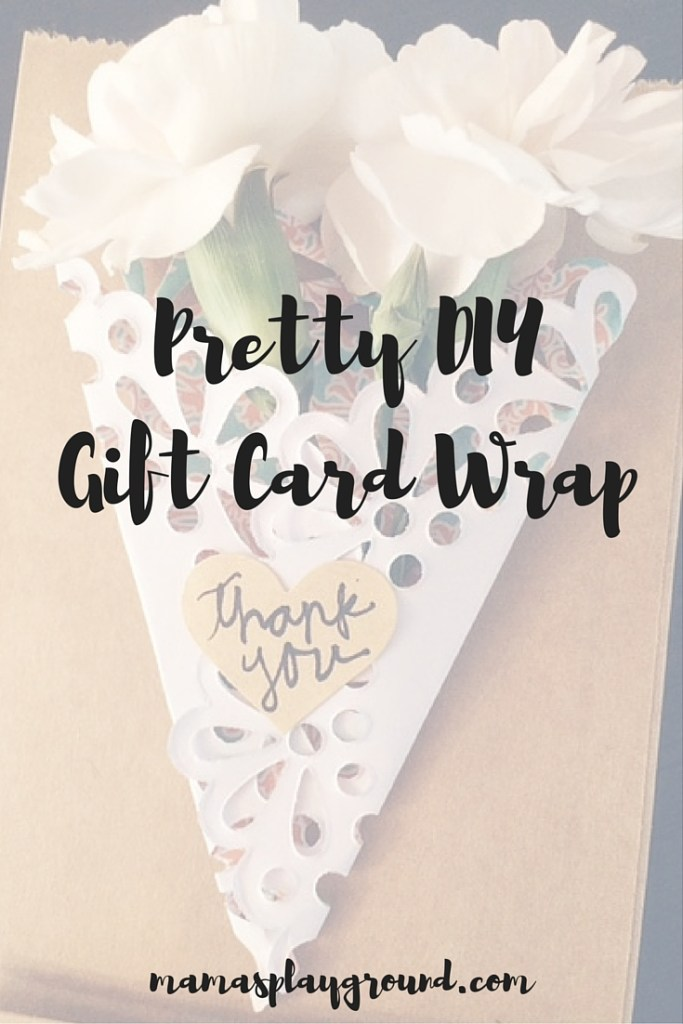 Pretty Gift Card Wrap