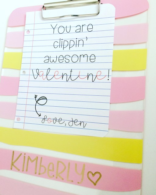 Add this free valentine to a clipboard for your coworkers and friends.