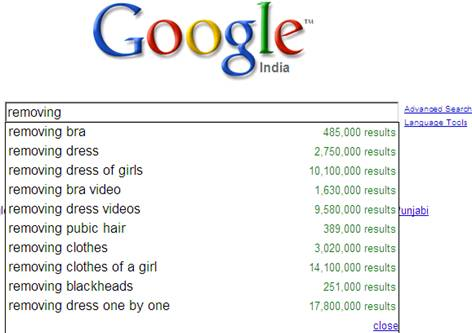 Google India search