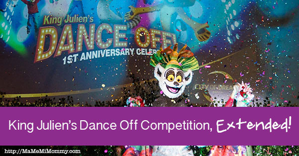 DreamPlay Extends King Julien's Dance Off Competition