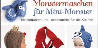Monstermaschen für Mini-Monster Strickanleitung Stricken Handarbeit Mützen MyBoshi Wolle Babymütze Schlupfmütze