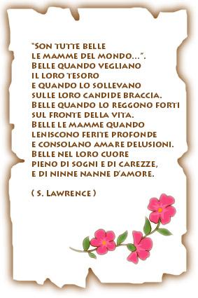 Poesia : Son tutte belle le mamme del mondo in poesie preghiere e testi festa d mamma