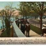 New Yorkers promenading in Riverside Park around the time the builders broke ground for The Manchester.