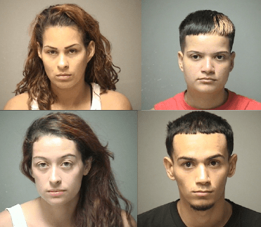 4 arrested after shots fired during street fight, woman injured with brass knuckles