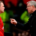Wayne Rooney, left, and Sir Alex Ferguson