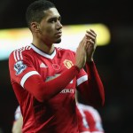MANCHESTER, ENGLAND - NOVEMBER 07:  Chris Smalling of Manchester United walks off after the Barclays Premier League match between Manchester United and West Bromwich Albion at Old Trafford on November 7, 2015 in Manchester, England.  (Photo by Tom Purslow/Man Utd via Getty Images)
