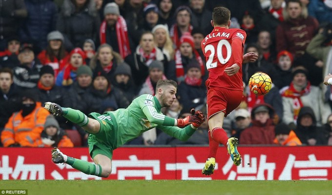 REUTERS Lallana miss