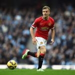 MANCHESTER, ENGLAND - NOVEMBER 02: Luke Shaw of Manchester United in action during the Barclays Premier League match between Manchester City and Manchester United at Etihad Stadium on November 2, 2014 in Manchester, England.  (Photo by Laurence Griffiths/Getty Images)