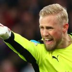 Leicester City's Kasper Schmeichel during the Premier League match between Arsenal and Leicester City at Emirates stadium , London, England on 26 April 2017.    (Photo by Kieran Galvin/NurPhoto via Getty Images)