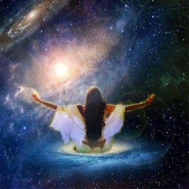 женщина вселенная