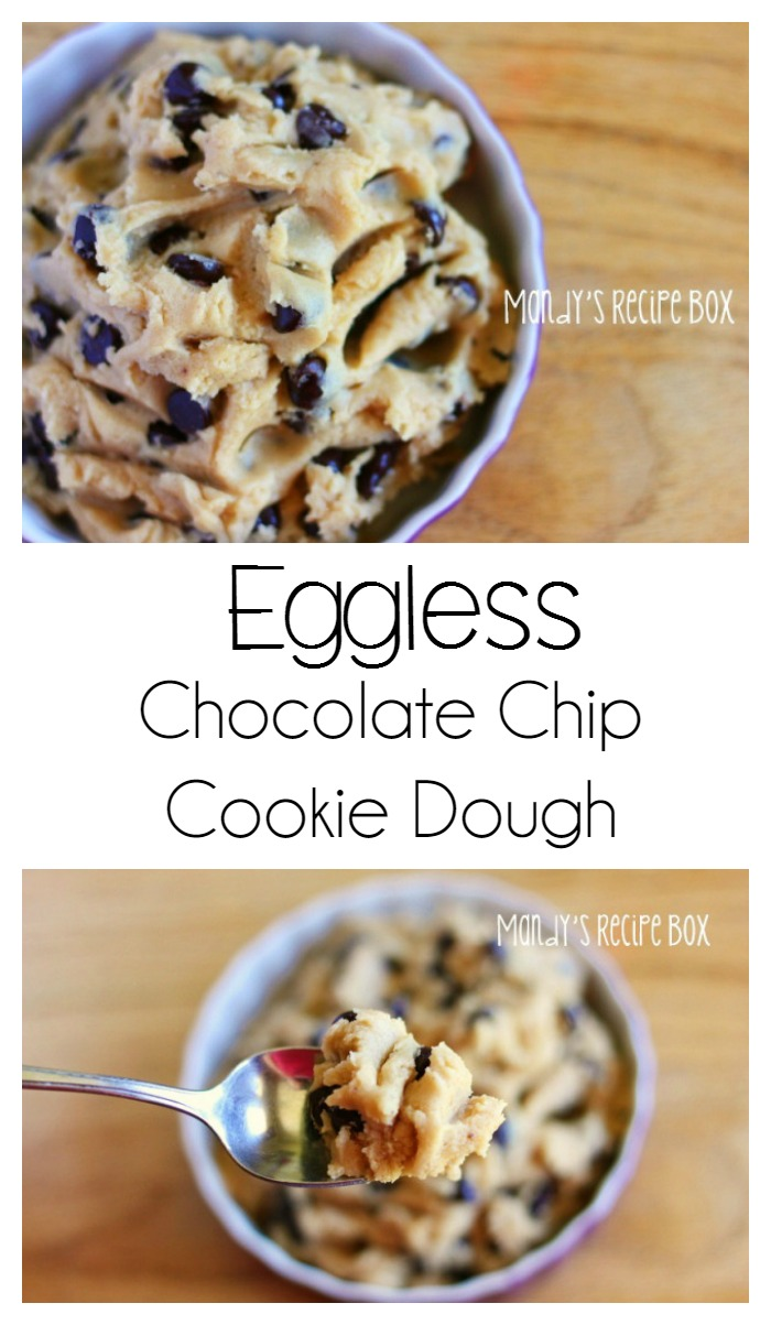 Eggless} Chocolate Chip Cookie Dough | Mandy's Recipe Box