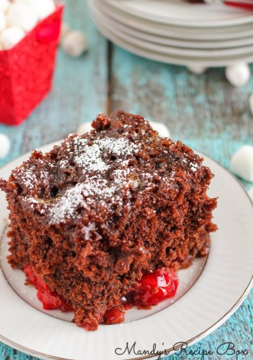 Chocolate Cherry Roll Cake