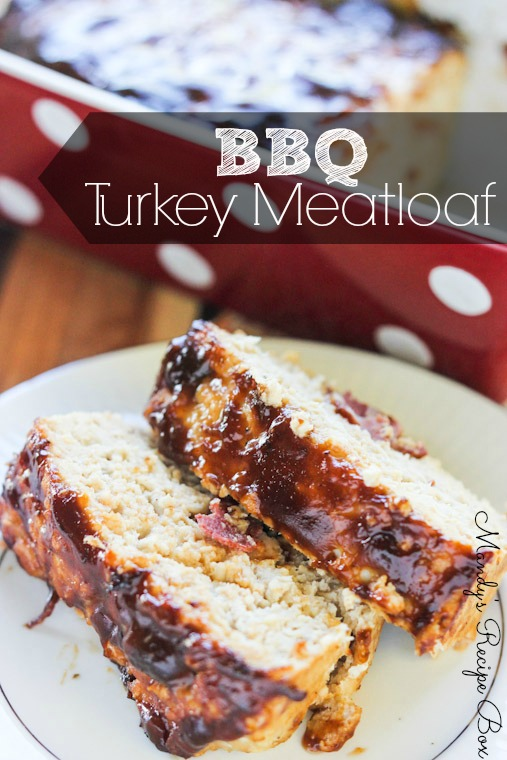 Bacon Topped Petite Turkey Meatloaf With BBQ Sauce Recipes ...