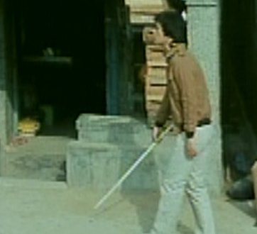 Jintai is walking with a cane