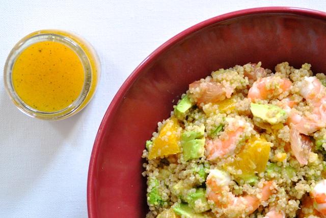 salade de quinoa aux agrumes avocat et crevettes mange brille aime. Black Bedroom Furniture Sets. Home Design Ideas