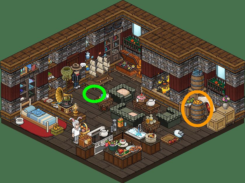 L'évasion de Pâques Habbo - Niveau 7 Partie 2