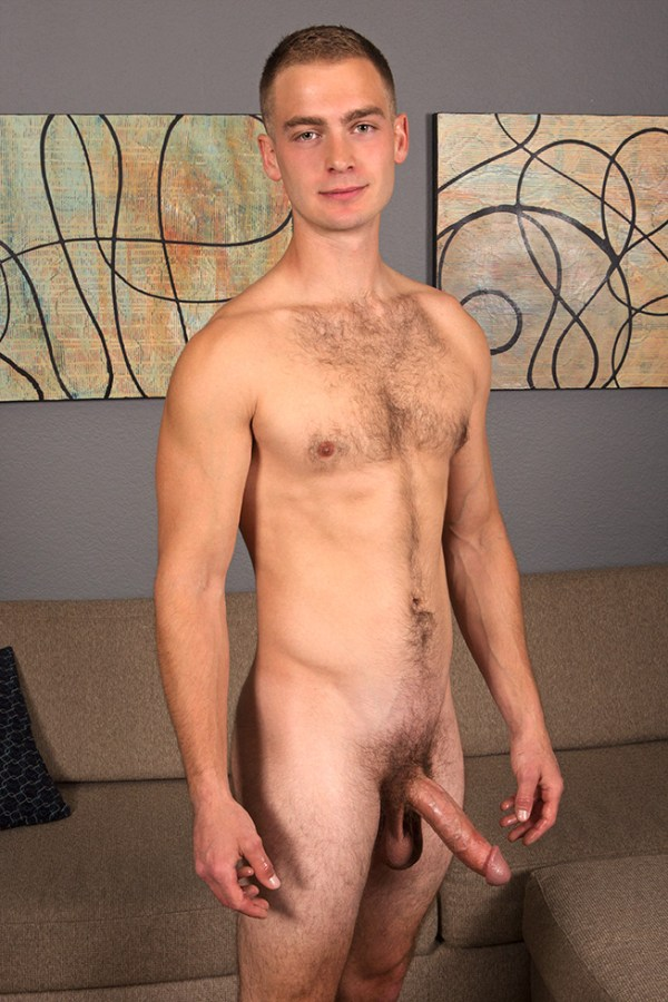 Anders in a solo for gay porn site Sean Cody.