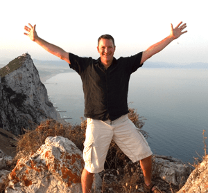 Dave Atop Rock of Gibratar