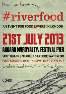 Philip Cooper, Michelin Star Chef Offers Recipes And His Brand New Event #Riverfood