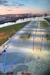 Titanic Belfast - ship outline