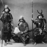 Samurais In Armour, [1880 - 1890]. [graphic]. Creator: Kusakabe, Kimbei, 1841-1934 (photographer) ( Wikimedia )