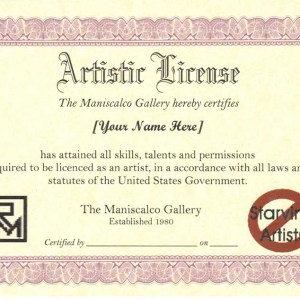Artistic License Certificate