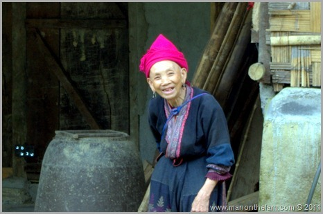 Old tribe woman in Sapa Vietnam