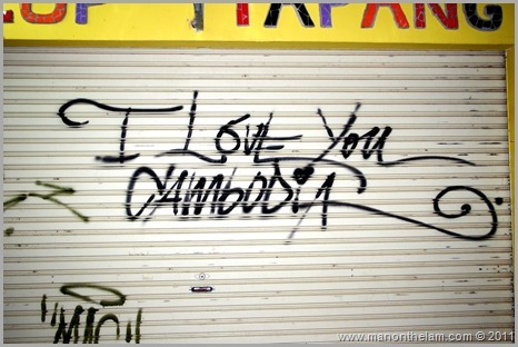 I love you Cambodia graffiti