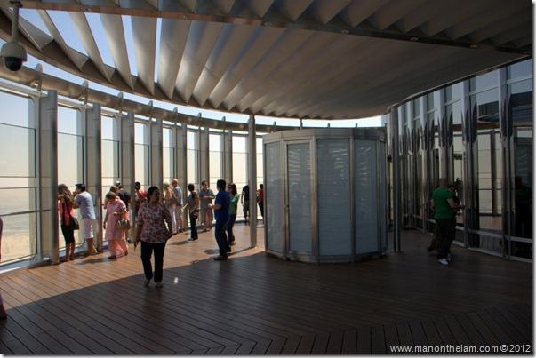 Observation platform in Tallest building in the world, Burj Khalifa, Dubai, UAE