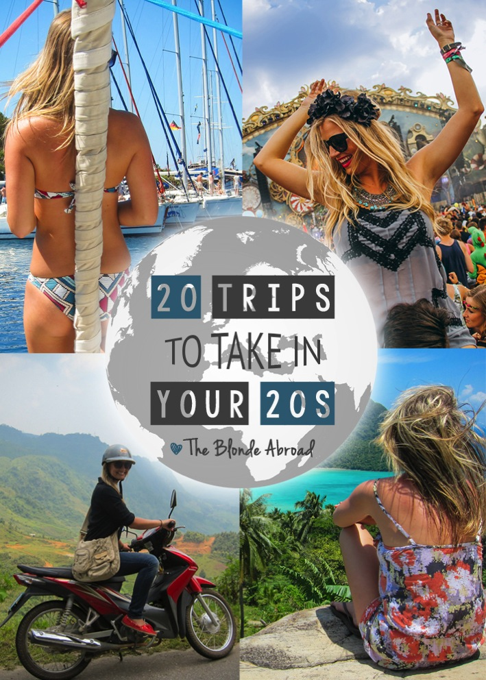 20 Trips to Take in Your 20s  The Blonde Abroad  Top 100 Travel Blog Posts of 2014 by Social Shares