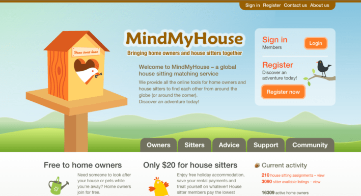 MindMyHouse.com housesitting website
