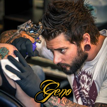 Geno Somma Mountain Scenery Tattoo in Time Lapse Part 1