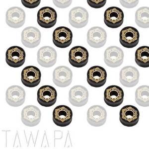Tawapa Ebony with Brass Inlay Lotus Plug
