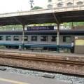 Trem em Sta. Margherita Ligure, na Itália