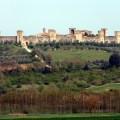 Aldeia medieval de Monteriggioni. Toscana, Itália