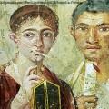 Mural represesentando um Casal romano em  Pompeia