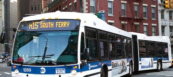 Ônibus em New York - foto- www.autoevolution.com