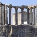 Ruínas de templo romano em Évora, Alentejo