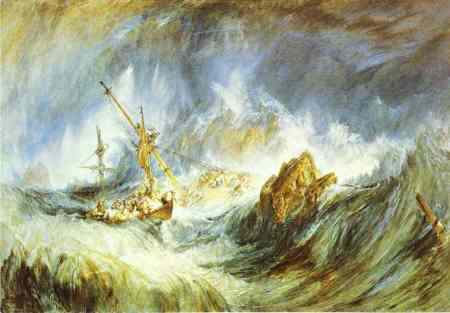 William Turner - A Storm (Shipwreck)