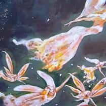 tableau de cinq fées volantes