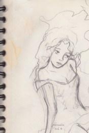 dessin jeune fille en robe