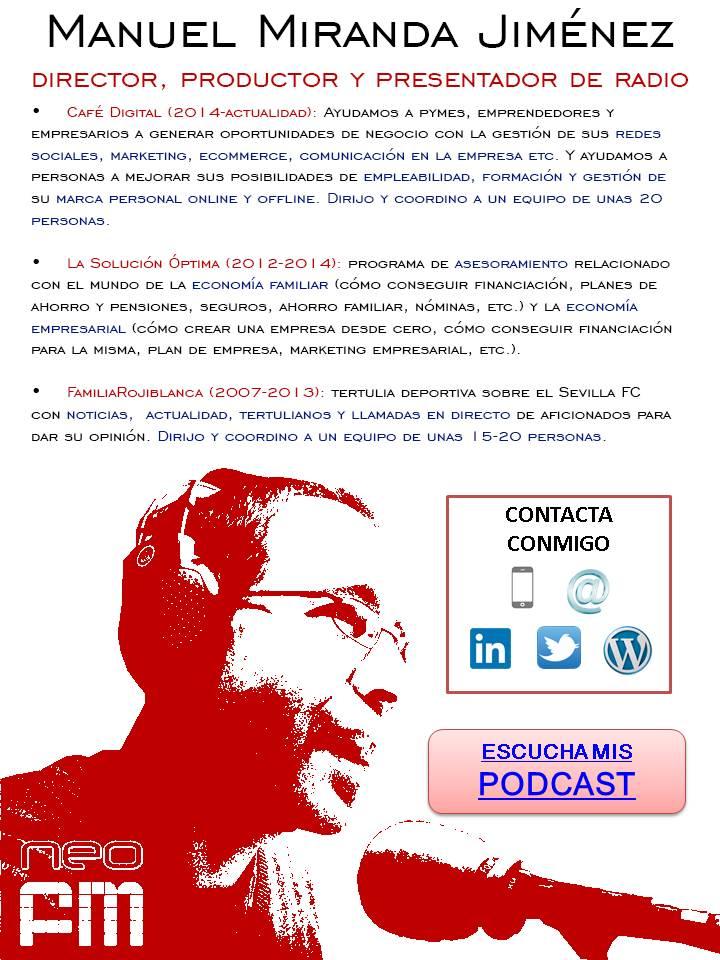 CV Manuel Miranda Jimenez - Comunicacion - Radio - mayo 2015
