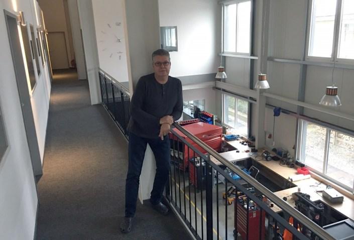 Manufakturen-Blog: Stephan Adam sucht technische Anknüpfung in Richtunng Industrie (Foto: IDE-Compressors Manufaktur GmbH/Gabriele Adam)
