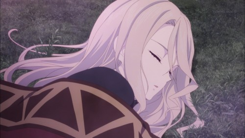 寝ているアリーシャ