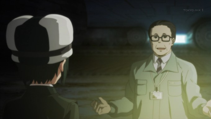 公務員と話すキノ