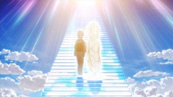 天国へ向かう老婆と志乃