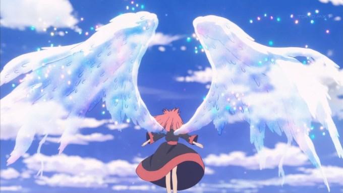 翼を広げるネリ?